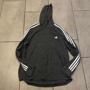Adidas Pullover Hoodie Grey White